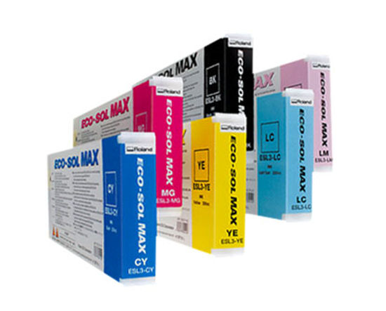 Picture of Roland Eco-Sol MAX Ink (440ml cartridge) Cyan - ESL3-440CY