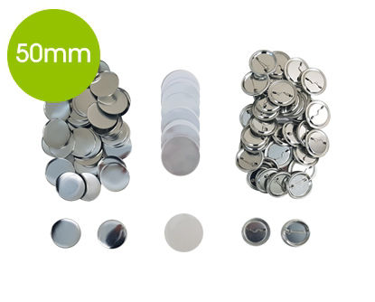 Picture of DIGITOOL Badges with Pin Round 50mm (100 pcs)